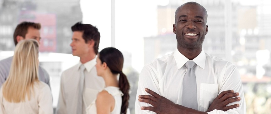 http://www.dreamstime.com/royalty-free-stock-photography-business-leader-business-team-smiling-image9098657